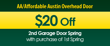 $20 Off, AA/Affordable Austin Overhead Door